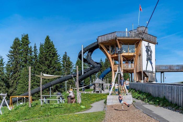 parque Madrisa Land en los Alpes