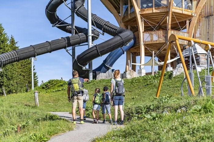 Parque de aventuras en los Alpes Suizos