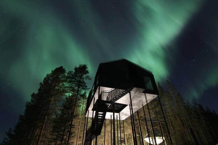 Ver auroras boreales en Suecia con niños