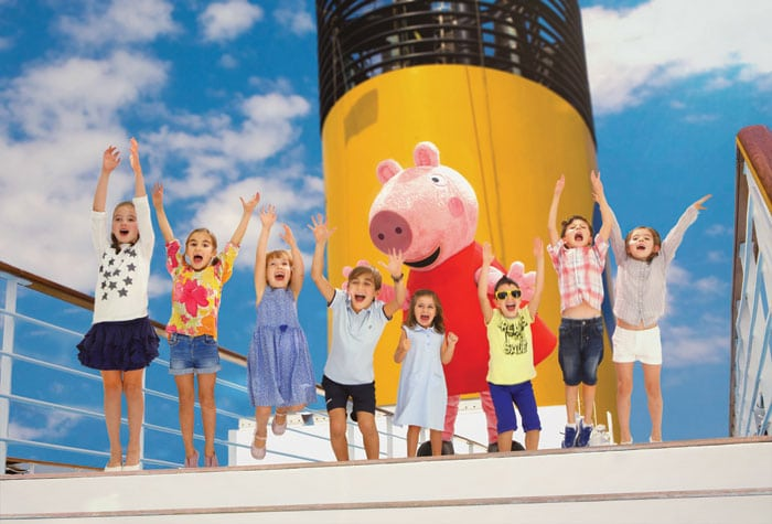 Peppa Pig a bordo barcos Costa Cruceros